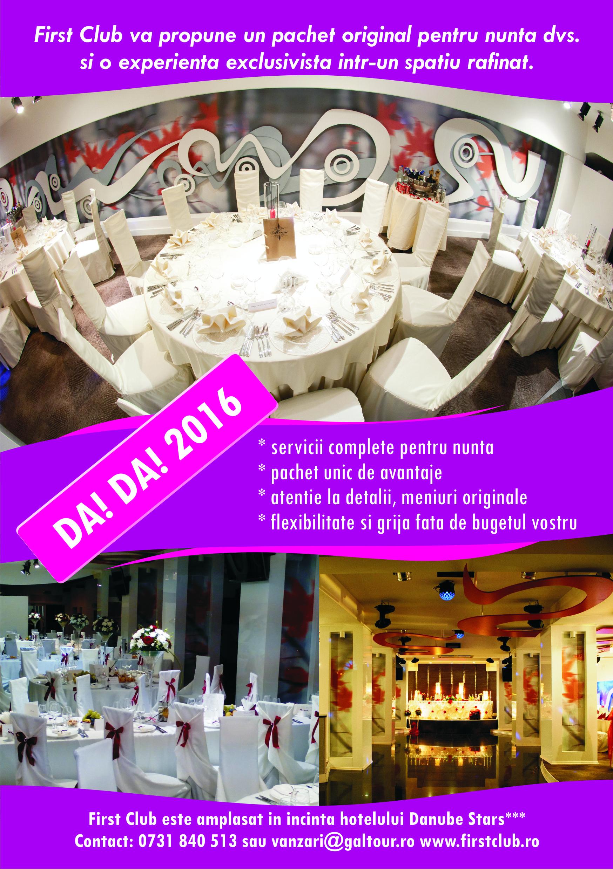 First Club At Nunta Galati Evenimente Galati Dunarea Events